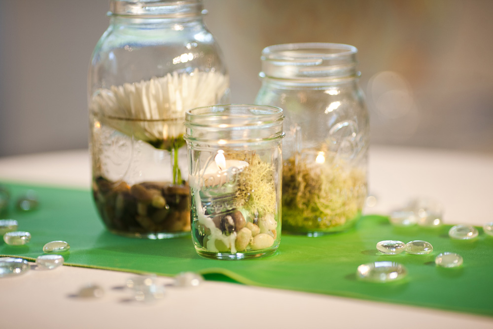 Wedding | Mason Jar Centerpieces