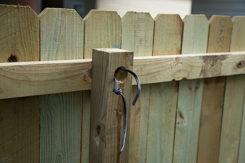 Privacy Fence | Accent Lighting Wiring