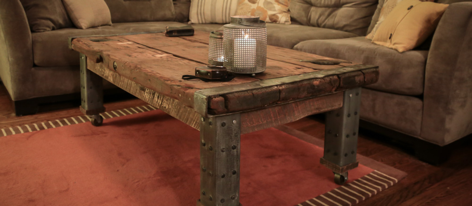 WWII Ship Hatch Turned Coffee Table