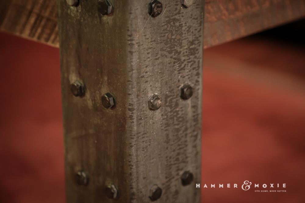 Custom metal legs.