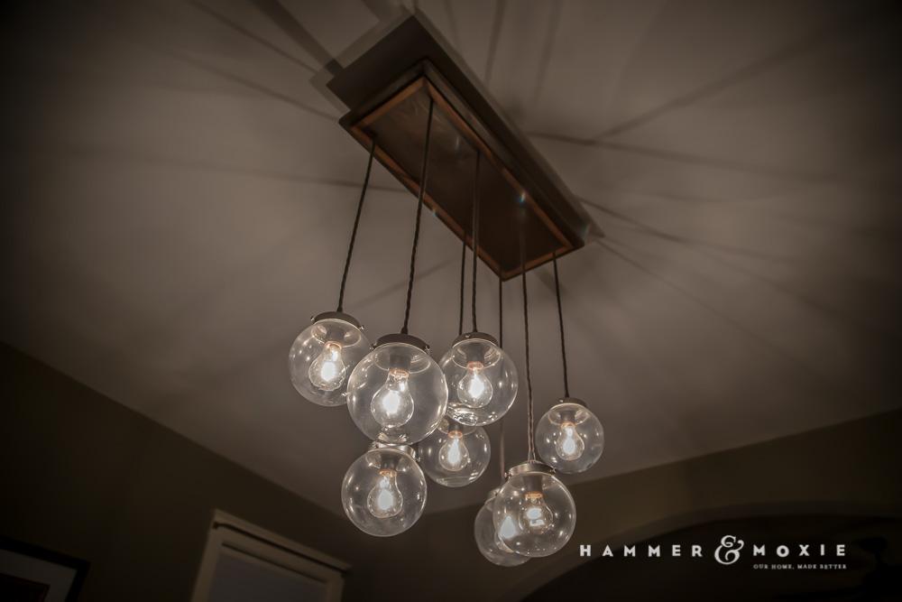 Homemade chandelier.