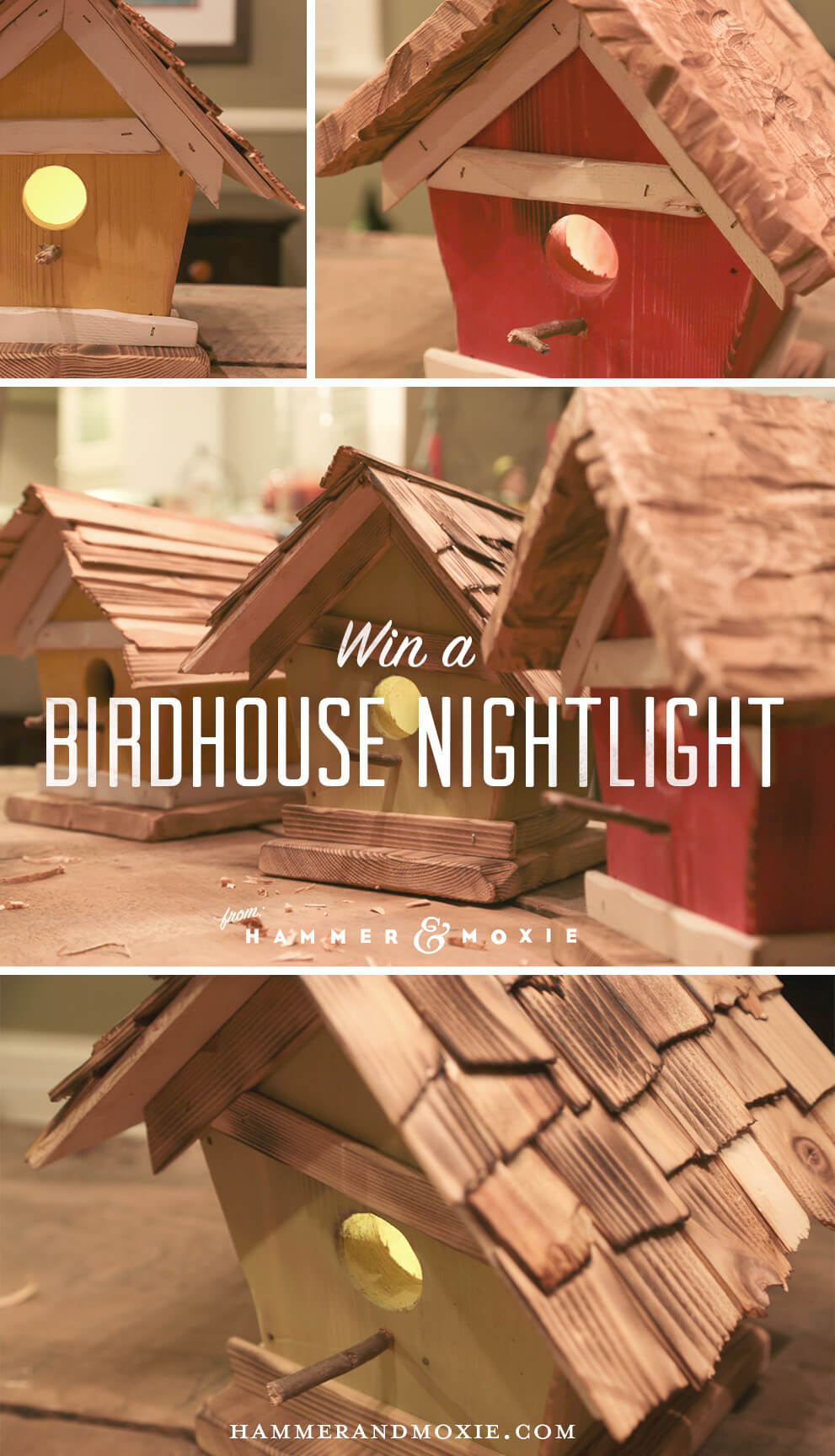 Birdhouse Giveaway: Win a decorative birdhouse nightlight from Hammer & Moxie.