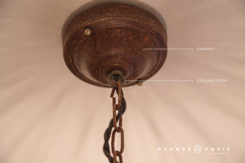 Birdcage Pendant Light |Canopy & Collar Loop | Hammer & Moxie